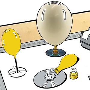 lag din egen ballongfarkost kvadratisk